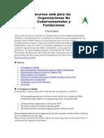 Recursos Web Para Las Organizaciones No Gubernamentales y Fundaciones