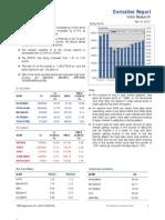Derivatives Report 10th February 2012