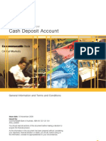 Cash Deposit Account