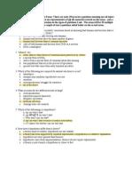 Study Guide for Exam I