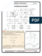 Solutions to the Tutorial (No. 5) of Engineering Mechanics (first semester) !