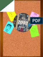 Calendari 2012 del Pis Bolos de la Fundació Resilis