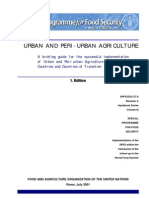 Urban and Peri Urban Agriculture- SPFS Briefing Guide, 2001