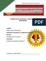 Formatos de Archivos y Archivos de Secuencias