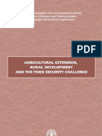 Agricultural Extension, Rural Development and the Food Secur