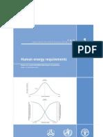 Human Energy Requirements