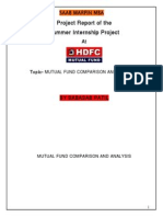 Hdfc Finance Project Report OF MBA FINANCE