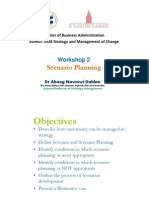Workshop 2 Scenario Planning
