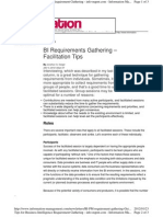 BI Requirements Gathering - Facilitation Tips