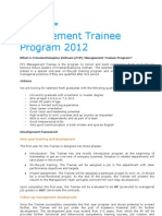 Management Trainee Program 2012
