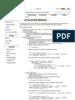 Instalación manual _ wiris
