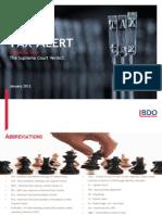 BDO Tax Alert - The Vodafone Judgment 2012