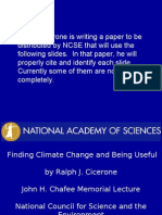 Finding Climate Change and Being Useful