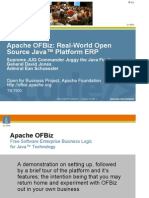 Apache OFBiz Real World Open Source Java Platform ERP
