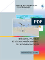 Technologies, Policies and Measures for Mitigating Climate Change - French
