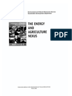 The Energy and Agriculture Nexus