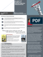 The Craft Of Technical & Scientific Writing & Presentation May 2012 Singapore & Dubai