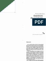 Bourdieu Questions de Sociologie