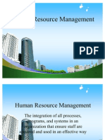 MY PPT @ BECDOMS on Human Resource Management