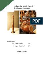 Kumpulan Alat Musik Daerah Tradisional Indonesia