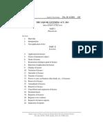 Liqour Licensing Act, 2011