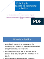Volatility, SD and EWMA