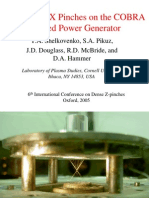 T.A. Shelkovenko et al- Multi-wire X Pinches on the COBRA Pulsed Power Generator