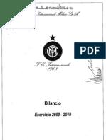 bilancio FC Internazionale