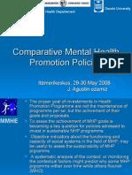 Health Departament Deusto University MMHE Comparative Mental Health Promotion