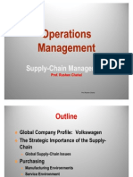 Operations Management- Supply Chain Management
