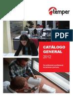 Temper Catalogo Tarifa 2012