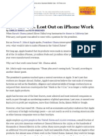 NYT - How the US Lost Out on iPhone Work