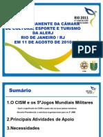 Apresentação Jogos Mundiais Militares