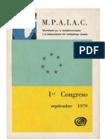 1er Congreso Del MPAIAC, Septiembre 1979