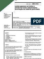 NBR 12019 - 1990 - MB 3355 - Efluentes Gasosos Em Dutos e Chamines de Fontes Estacionarias - Determinacao de Material Particulado