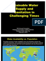 Sustainable Water Supply and Sanitation in Challenging Times -Gozun