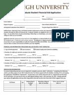 2012-13 Graduate Financial Aid Application