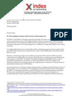 UK Freedom of Information Post Legislative Scrutiny Submission 03 02 12