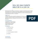 Control de Una Fuente Variable de 0 a 220 CA