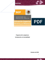 Programa desarrollado Introducción a la contabilidad ESAD 20. Cuatrimestre. Admon. Empresas  Turísticas