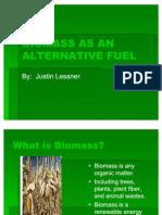 Biomass as an Alternative Fuel