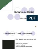 Distribucion costos
