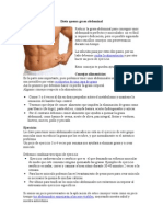 Dieta quema grasa abdominal