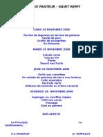 College Pasteur - Saint Remy Lundi 24 Novembre 2008