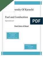 Flash point of Diesel