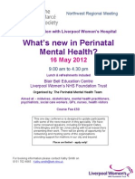 Perinatal Mental Health Conference Flyer 16 May 2012 Liverpool