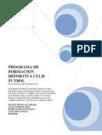 Programa de Formacion Deportiva Club Futbol20
