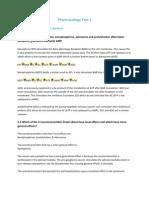 Pharmacology Test 1