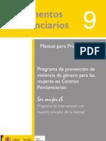 """Programa de prevención de violencia de género para las mujeres en Centros Penitenciarios. """"Ser mujer.eS"""""""