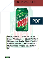 marketing management of mountain dew